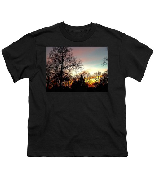 Golden Hour Brilliance Youth T-Shirt by Frank J Casella
