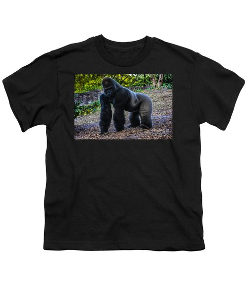 Youth T-Shirt featuring the photograph Gorilla Troop Leader by Gary Keesler