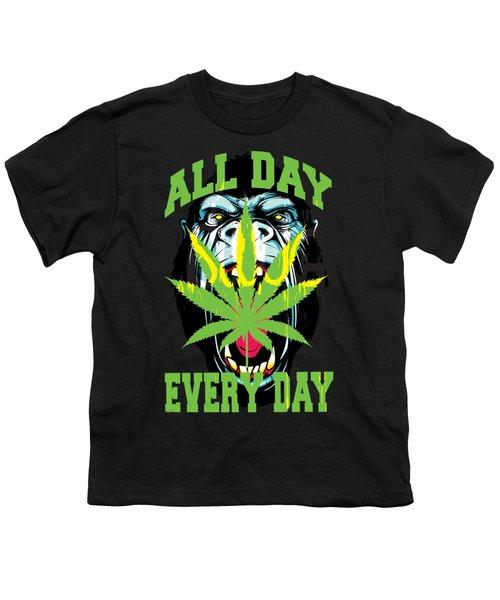 Gorilla Warfare  Youth T-Shirt by John D'Amelio