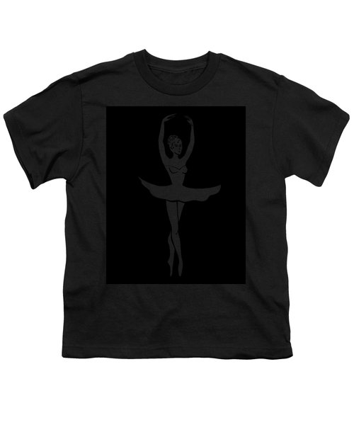 Graceful Dance Ballerina Silhouette Youth T-Shirt