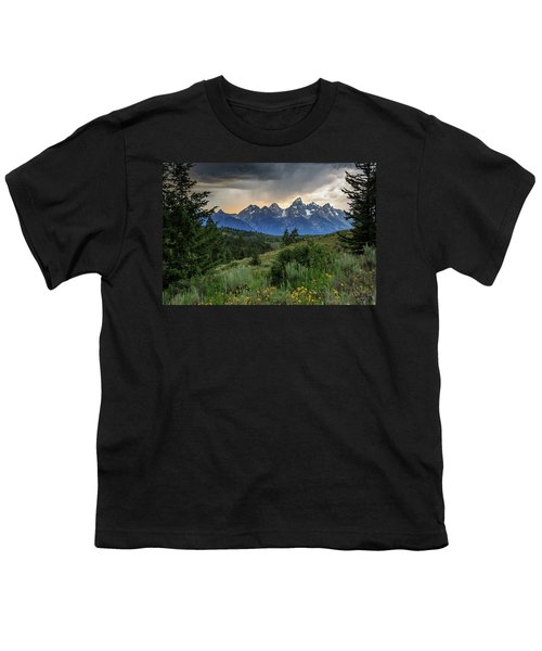 Youth T-Shirt featuring the photograph Grand Stormy Sunset by David Chandler