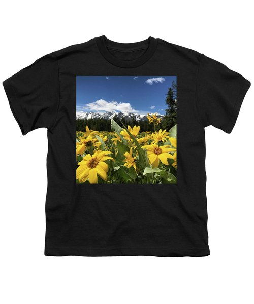 Grand Teton Mountains Youth T-Shirt