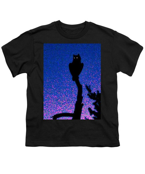 Great Horned Owl In The Desert Youth T-Shirt