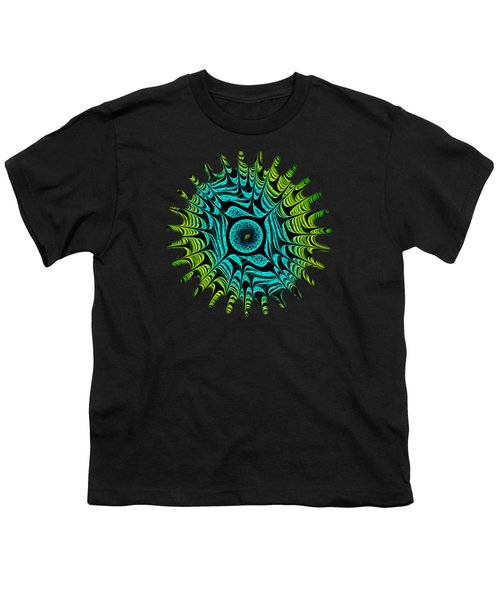 Green Dragon Eye Youth T-Shirt by Anastasiya Malakhova