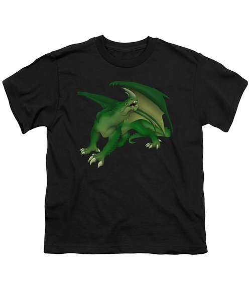 Green Dragon Youth T-Shirt by Gaynore Craps
