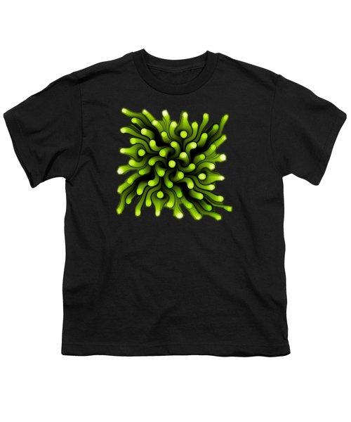 Green Sea Anemone Youth T-Shirt by Anastasiya Malakhova