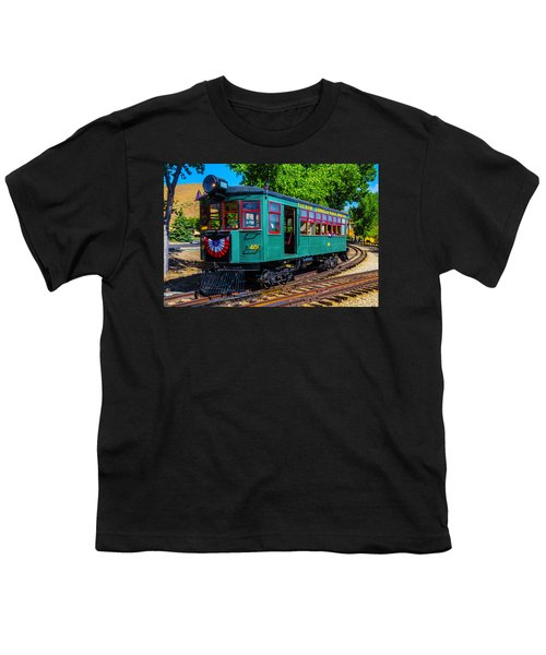 Green Tucson Cornelia And Gila Bend R R Youth T-Shirt
