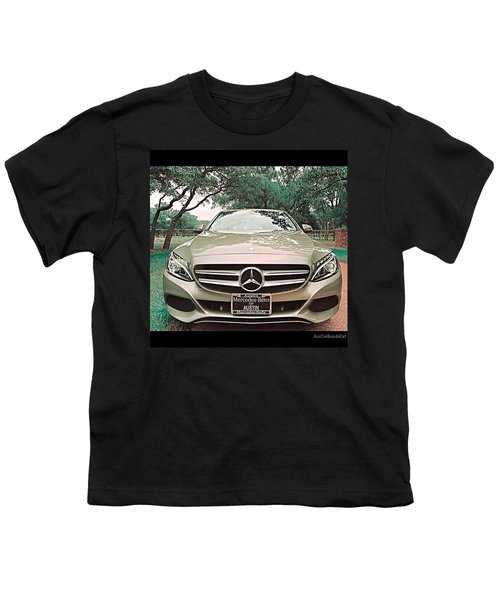 #grey #sky And A #silver Grey #car Youth T-Shirt