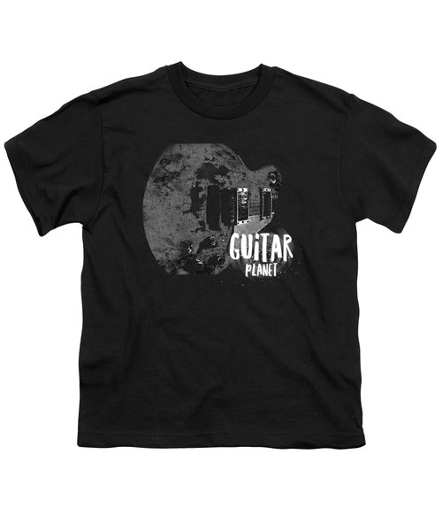 Youth T-Shirt featuring the photograph Guitar Planet  by Guitar Wacky