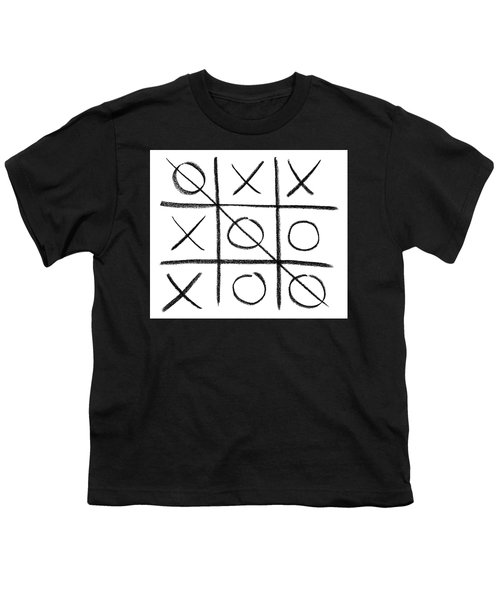 Hand-drawn Tic-tac-toe Game Youth T-Shirt