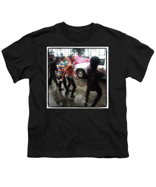 Youth T-Shirt featuring the photograph Happy Songkran. The Water Splashing by Mr Photojimsf