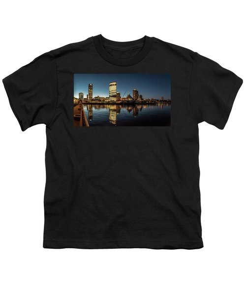 Youth T-Shirt featuring the photograph Harbor House View by Randy Scherkenbach