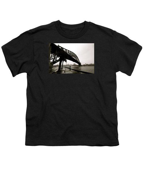 Harbour Bridge Youth T-Shirt by Mark Nowoslawski