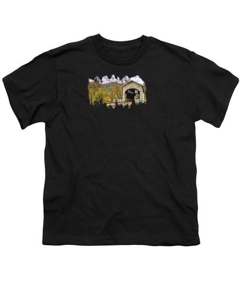 Harris Covered Bridge Youth T-Shirt by Thom Zehrfeld
