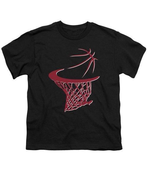 Heat Basketball Hoop Youth T-Shirt by Joe Hamilton