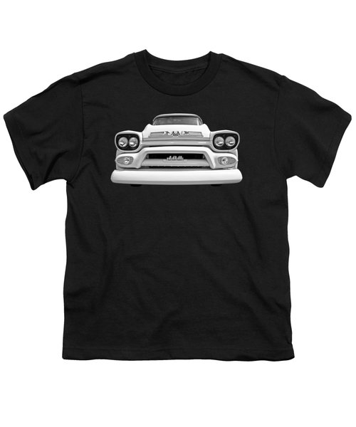 Here Comes The Sun - Gmc 100 Pickup 1958 Black And White Youth T-Shirt
