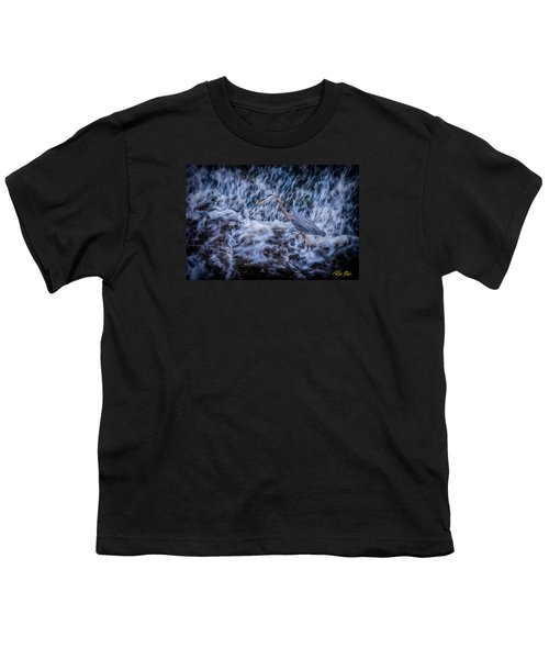 Youth T-Shirt featuring the photograph Heron Falls by Rikk Flohr