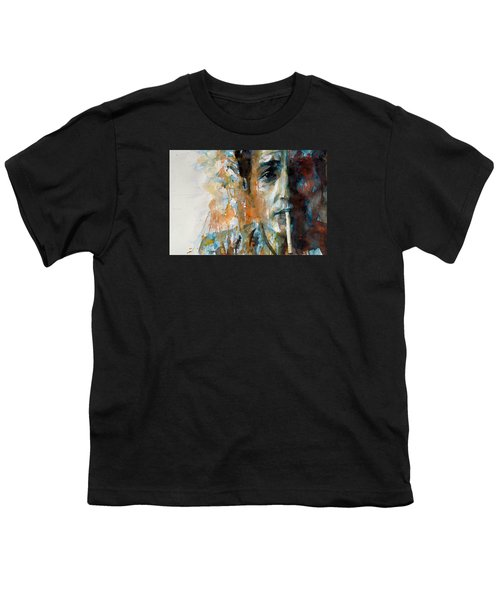 Hey Mr Tambourine Man @ Full Composition Youth T-Shirt by Paul Lovering