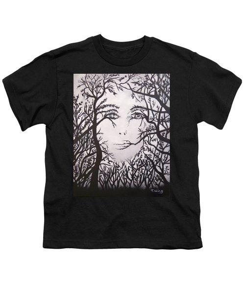 Hidden Face Youth T-Shirt by Teresa Wing