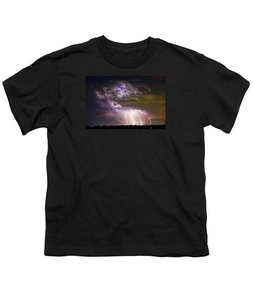 Highway 52 Storm Cell - Two And Half Minutes Lightning Strikes Youth T-Shirt by James BO  Insogna