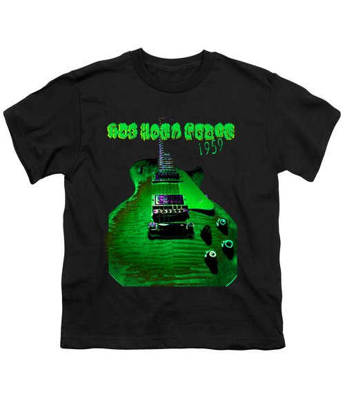 Youth T-Shirt featuring the photograph Holy Grail 1959 Retro Relic Guitar by Guitar Wacky