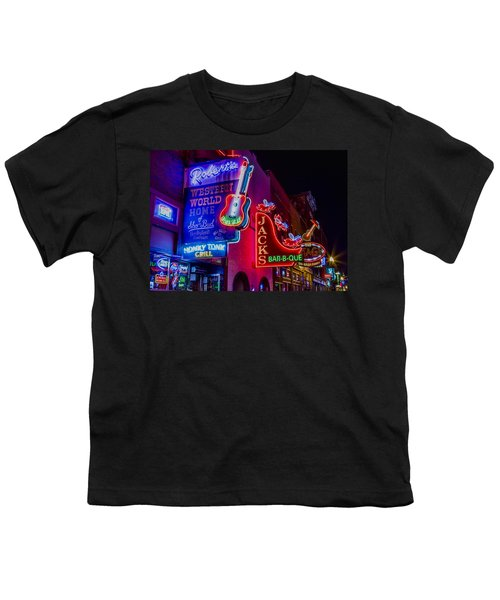 Honky Tonk Broadway Youth T-Shirt by Stephen Stookey