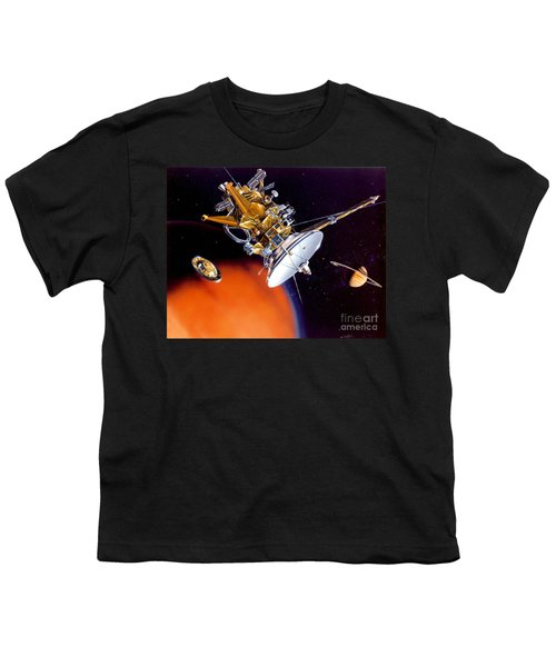 Huygens Probe Separating Youth T-Shirt by NASA and Photo Researchers