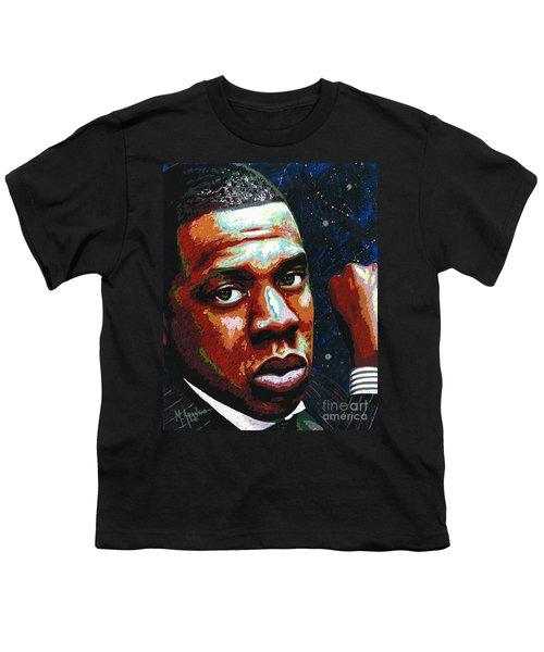 I Am Jay Z Youth T-Shirt by Maria Arango
