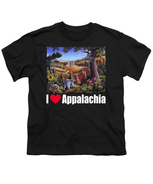 I Love Appalachia T Shirt - Coon Gap Holler 2 - Country Farm Landscape Youth T-Shirt by Walt Curlee