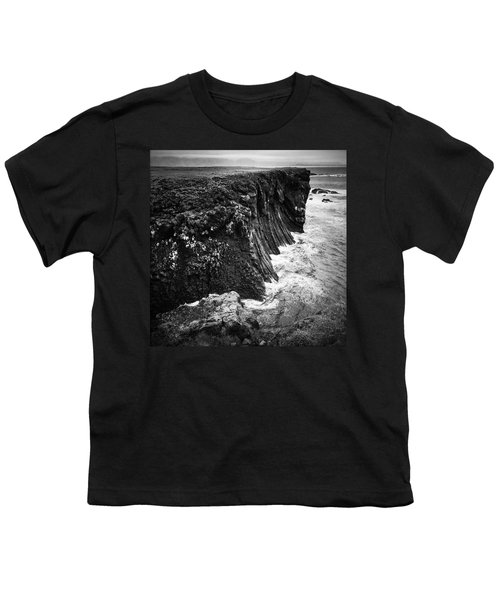 Iceland Coast Black And White Youth T-Shirt