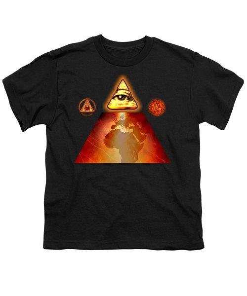 Illuminati World By Pierre Blanchard Youth T-Shirt