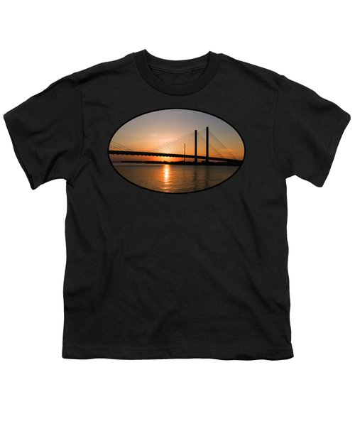 Indian River Bridge Sunset Reflections Youth T-Shirt
