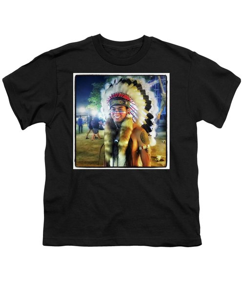 Youth T-Shirt featuring the photograph Indians Invade Thailand. Cowboys Too by Mr Photojimsf