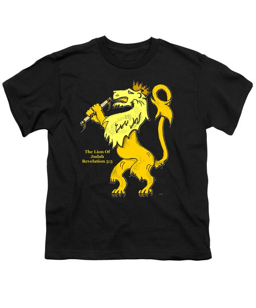 Inspirational - The Lion Of Judah Youth T-Shirt by Glenn McCarthy Art and Photography