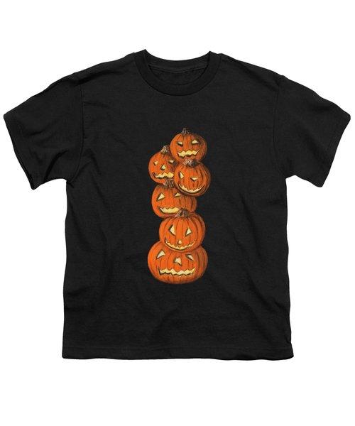 Jack-o-lantern Youth T-Shirt by Anastasiya Malakhova
