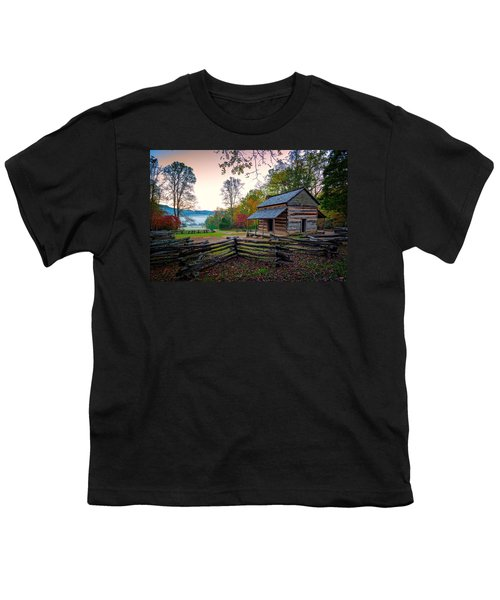 John Oliver Place In Cades Cove Youth T-Shirt