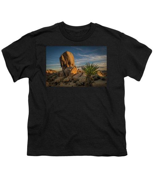 Joshua Tree Rock Formation Youth T-Shirt