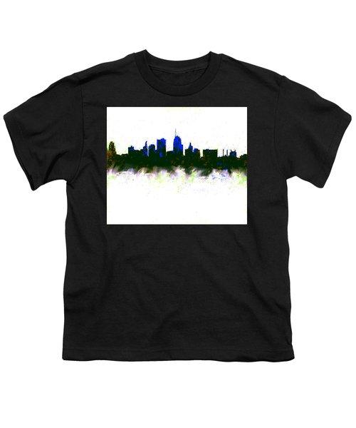 Kansas City Skyline Blue  Youth T-Shirt