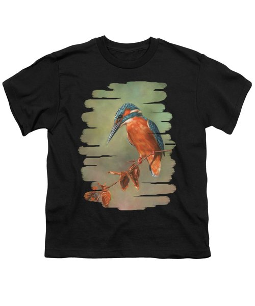 Kingfisher Perched Youth T-Shirt