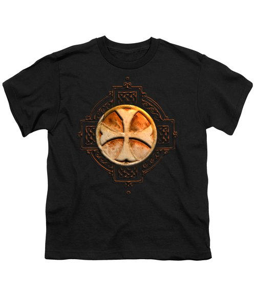 Knights Templar Symbol Re-imagined By Pierre Blanchard Youth T-Shirt