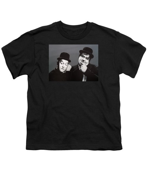 Laurel And Hardy Youth T-Shirt by Paul Meijering