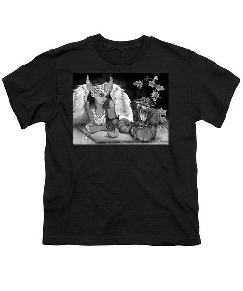 Let Me Explain - Black And White Fantasy Art Youth T-Shirt