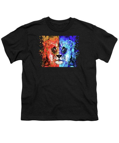 Lion Art - Majesty - Sharon Cummings Youth T-Shirt by Sharon Cummings