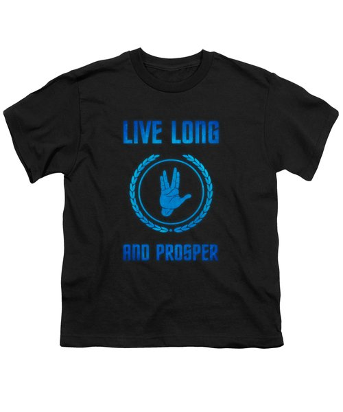 Live Long And Prosper Spock's Hand Leonard Nimoy Geek Tribut Youth T-Shirt by Philipp Rietz