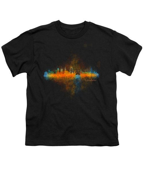 London City Skyline Uhq V4 Youth T-Shirt by HQ Photo