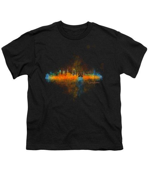 London City Skyline Uhq V4 Youth T-Shirt