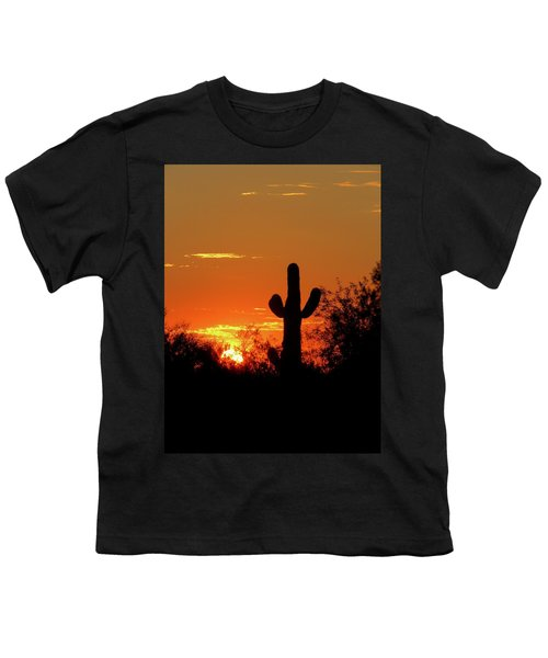 Lone Saguaro Sunrise Youth T-Shirt