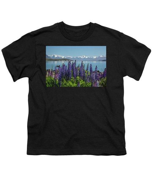 Lupines At Lake Tekapo Youth T-Shirt
