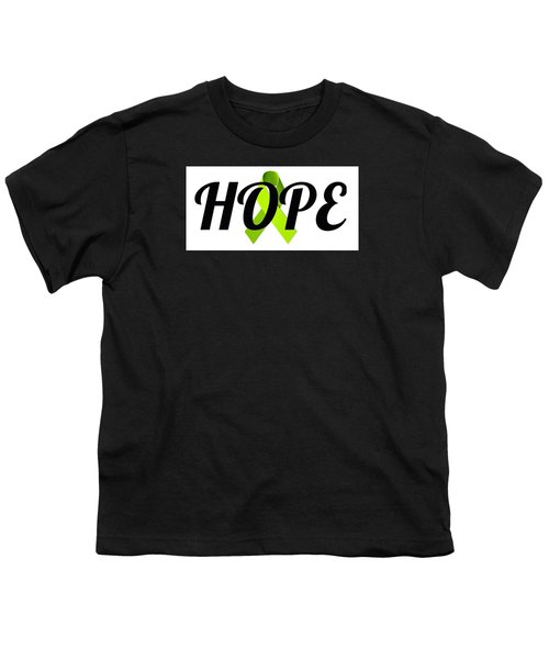 Lyme Awareness Ribbon Of Hope Youth T-Shirt by Laura Michelle Corbin