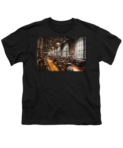 Machinist - A Room Full Of Lathes  Youth T-Shirt